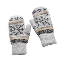 MISSKY Women Gloves Winter Knitted Warm Gloves Delicate Patt