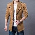 2017 Бизнес Мужчины Повседневная Теплый Пальто Размер M-3XL Хорошее Качество Однобортный Дизайн Сгущает Человек Мода Шерсти Clothings