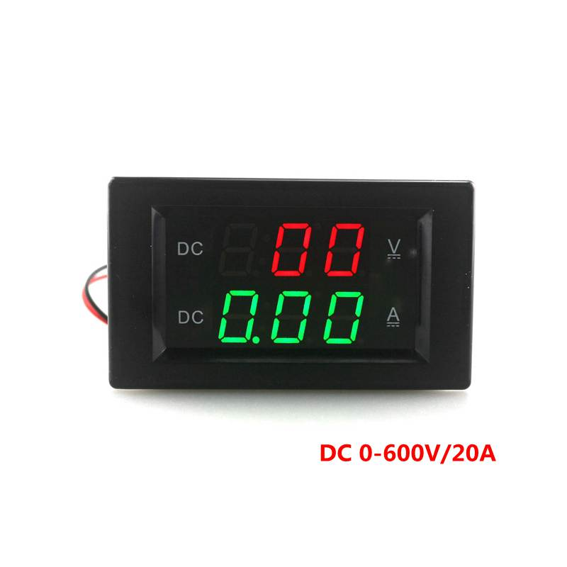 DC 0-600V/20A Digital Voltmeter Ammeter DC VOLT AMP Tester Gauge with red and green Led Power Supply DC 3.5-30V australia original infant trainer phase i soft myofunctional infant soft trainer girls