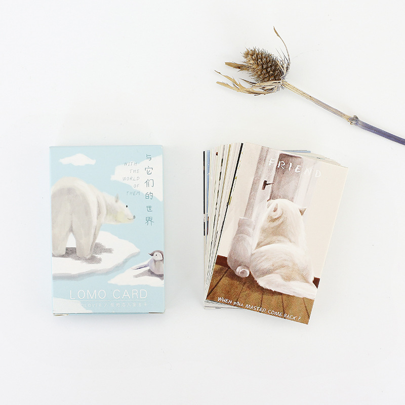 28 sheets/Set Animal World Series Mini Lomo Postcard /Greeting Card/Birthday Letter Envelope Gift Card Message Card