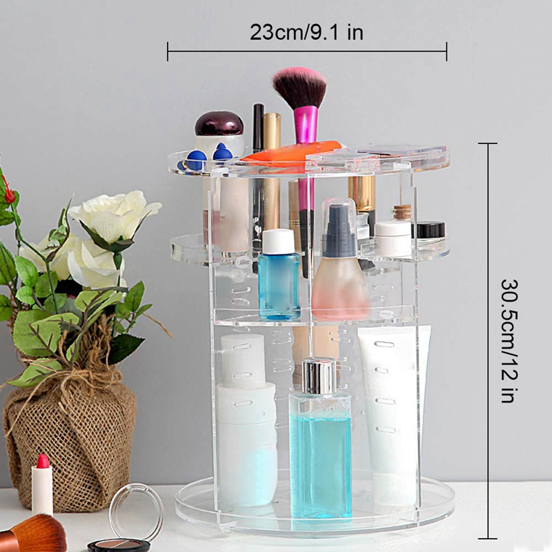 Rotating Makeup Organizer, Cosmetic Storage Jewelry Box(China)