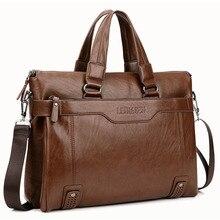 2016 New Men's Shoulder Crossbody Bag Senior Oil Wax Leather Handbag Busines s Briefcase 14 Inch Laptop Bags Messenger Bag