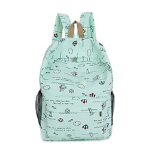 2018 new Korean version of the trend ultra light canvas shoulder bag ladies' backpack college student bag leisure bag College цена в Москве и Питере