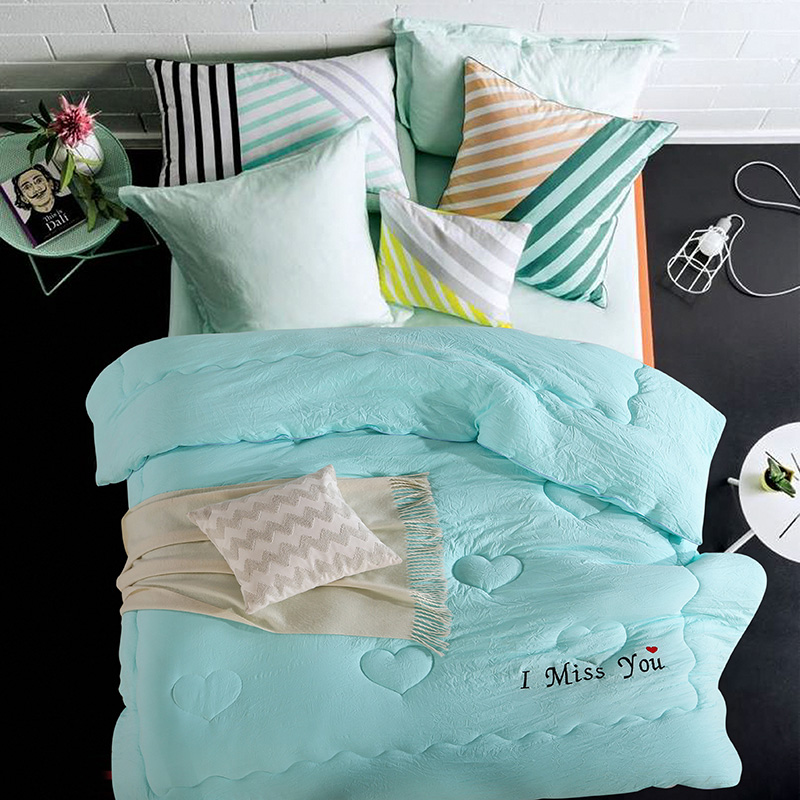 ≧1 pc Inverno consolador edredon de algodão lavado sonho azul
