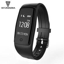 Vestmadra S1 умный Браслет Bluetooth 4.0 oled-экран водонепроницаемый монитор сердечного ритма Смарт фитнес-трекер