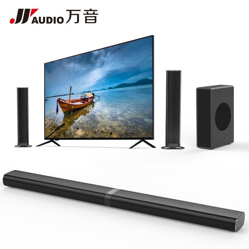 Q9 + S2 Son Home Cinéma Système De Barre De Son TV 60 w Bluetooth Haut-Parleur en Charge Optique AUX Coaxial TV Barre de Son et Subwoofer Haut-Parleur
