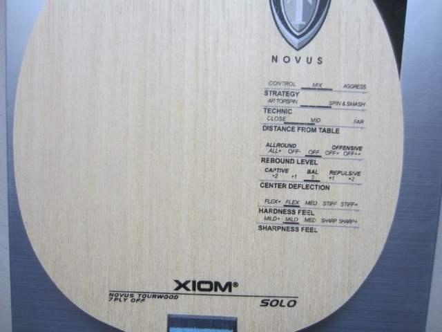 Original XIom SOLO <b>table tennis</b> blade pure wood <b>racquet</b> sports ...