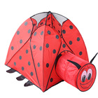 Foldable Ladybug Baby Tent Kids Toy House Huge Tent for Children Indoor Play Yard Baby Playpens Portable Ocean Stress Ball Pool