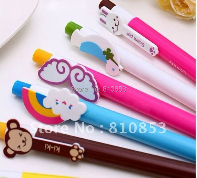 Free shipping New Creative Colorful Animals Wings Ballpoint Pens Korean Style Ball Pen 20pcs /lot Christmas gift,wholesale