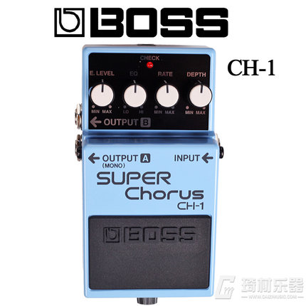 Boss Audio CH 1 Stereo Super Chorus Effects Pedal for Guitar and Keyboard with Free Bonus