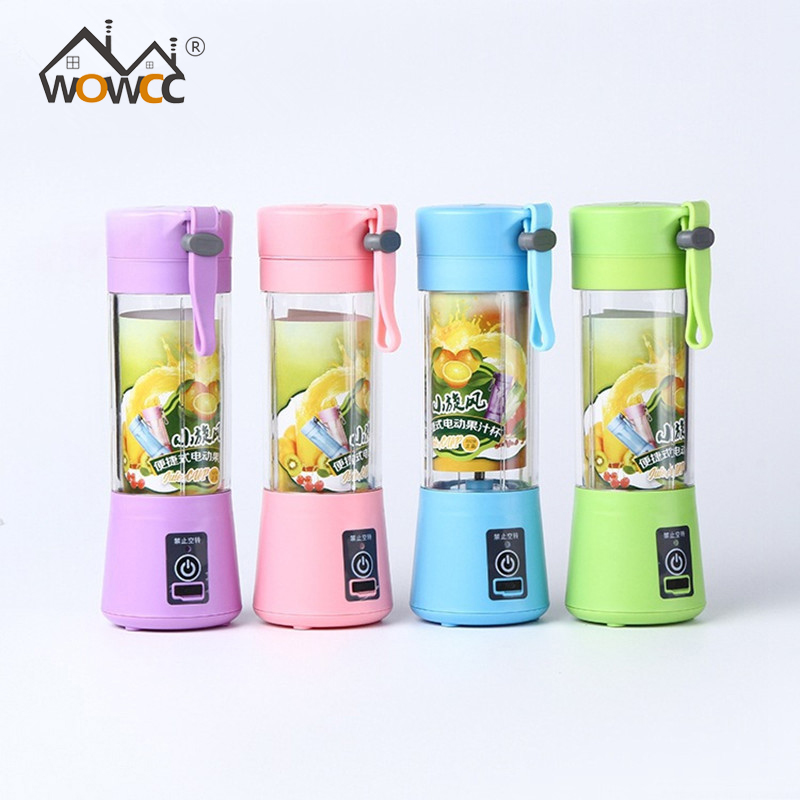 380ML 2/4/6 Blades Handhels USB Juicer Bottle Portable Electric Fruit Lemon Juicer Blender Squeezer Reamer Machine|Manual Juicers|Home & Garden - title=