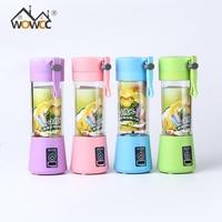 4 Colors Portable 380ml USB Electric Fruit Juicer Machine Blender Shake Handheld Smoothie Maker Rechargeable Juicer
