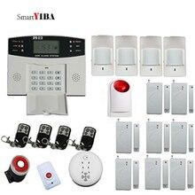 SmartYIBA Wireless Wired GSM Home Burglar Security Alarm System Wireless Siren Fire Smoke Detector Sensor French Spanish Voice