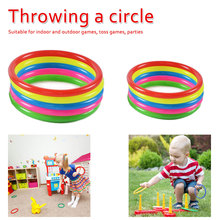 10 Pcs Outdoor Games Plastic Throwing Circle Toy Ring Game Educational Funny Kids Children Gift
