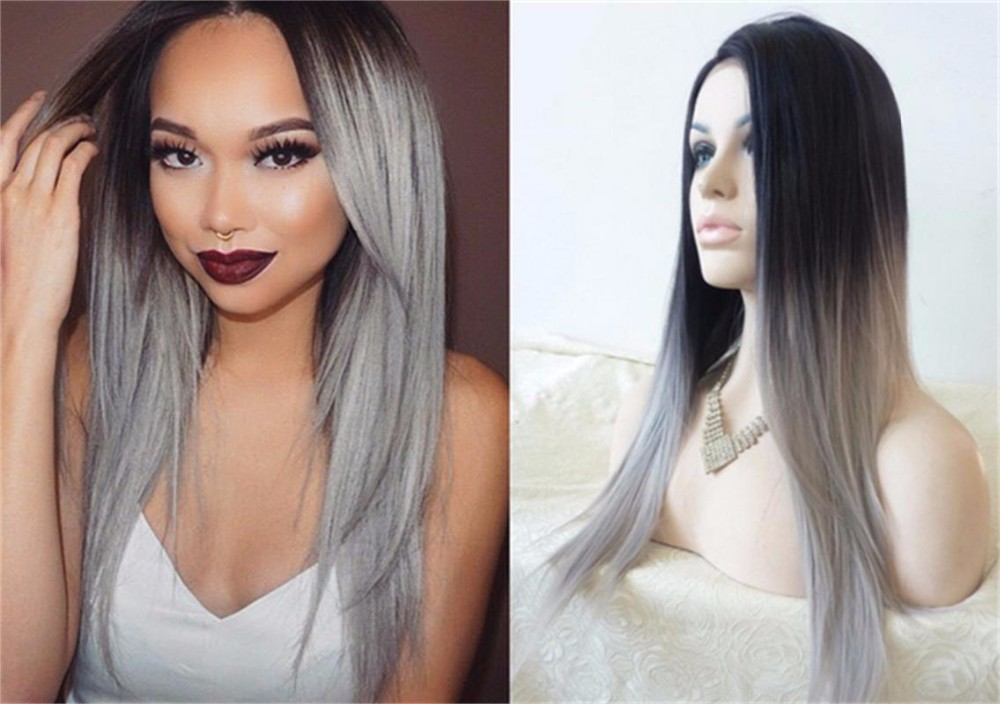 Brown To Silver Ombre Hair Extensions Hairs Picture Gallery