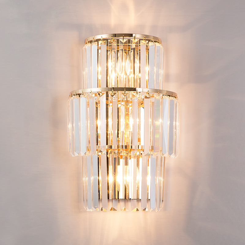 Luxury Modern Crystal Wall Light High Quality Plating Hardware Crystals Wall Lamp For Living Room Bedroom Hanging LED Sconce modern high quality k9 crystal wall lamp arandela for home bedroom living room led wall light european luxury led crystal lamp