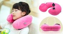 Confortable en forme de U gonflable oreiller voyage avion portable cou oreiller soins Rapide gonfler les sorties D'usine en gros