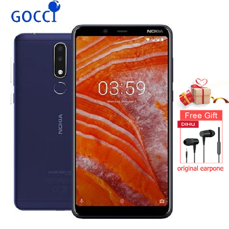 NOKIA 3.1 Plus Smartphone 6 inch IPS RAM 3GB ROM 32GB Dual SIM with SD Slot 3500mAh 4G Lte Helio P22 Octa-core Mobile Phone