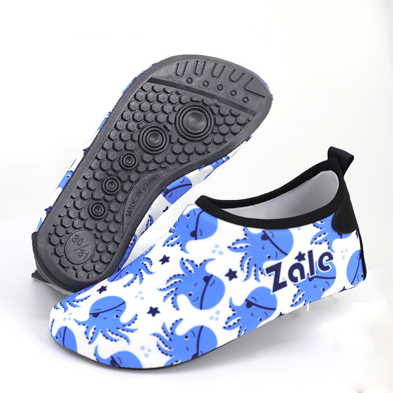 Children beach shoes summer barefoot water shoes unisex baby socks 2019 new boys girls swim warm non slip cartoon diving shoes in Slippers from Mother Kids