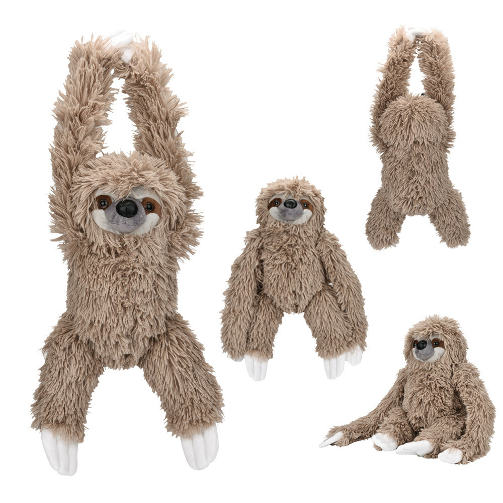 купить 27cm Sloth Stuffed Baby Plush Lovely Simulation Animal Dolls Plush Cute Folivora Stuffed Kawaii Collection Toys Gift MA30f по цене 860.17 рублей