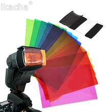 Hot 12pcs Flash Diffuser Universal Strobist Flash Speedlite Color Card Diffuser Lighting Gel Pop Up Filter For Canon Nikon Sony