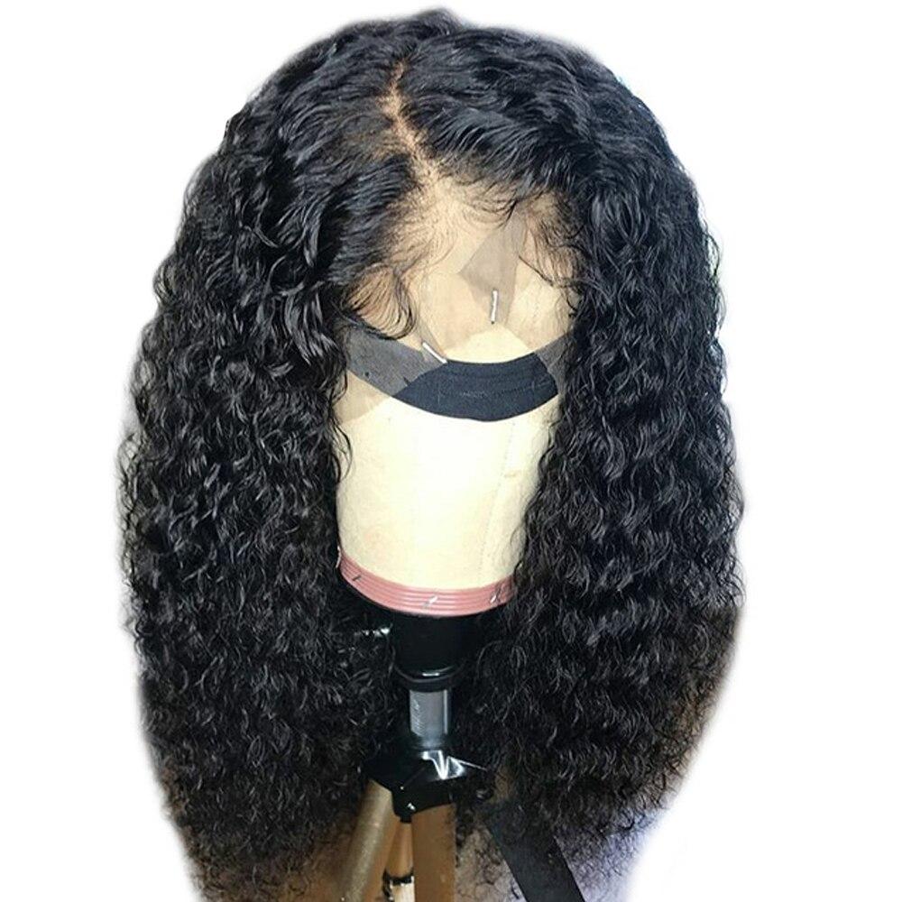 Pleine dentelle perruques cheveux humains avec bébé cheveux bouclés perruques de cheveux humains sans colle pleine dentelle perruques pré plumées avec bébé cheveux brésilien Remy