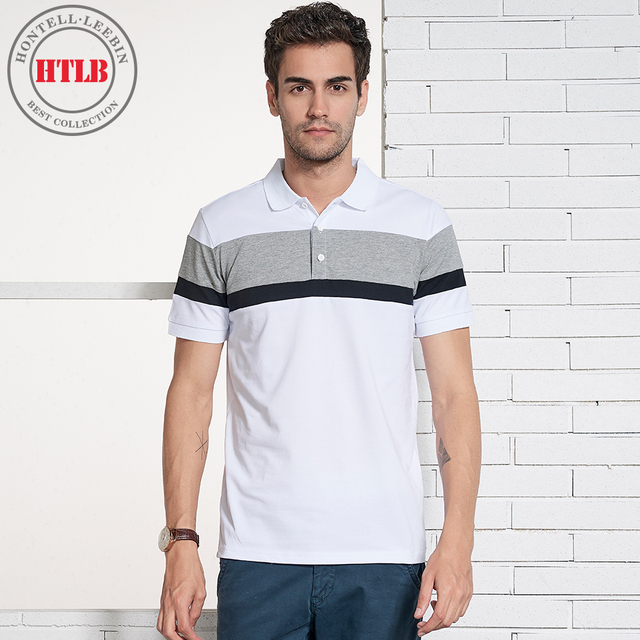 8a424771c00 HTLB 2018 Men s Summer New Business Casual Polo Shirts Men Brand Fashion  100% Cotton Elastic Soft Breathable Polo Shirts Men