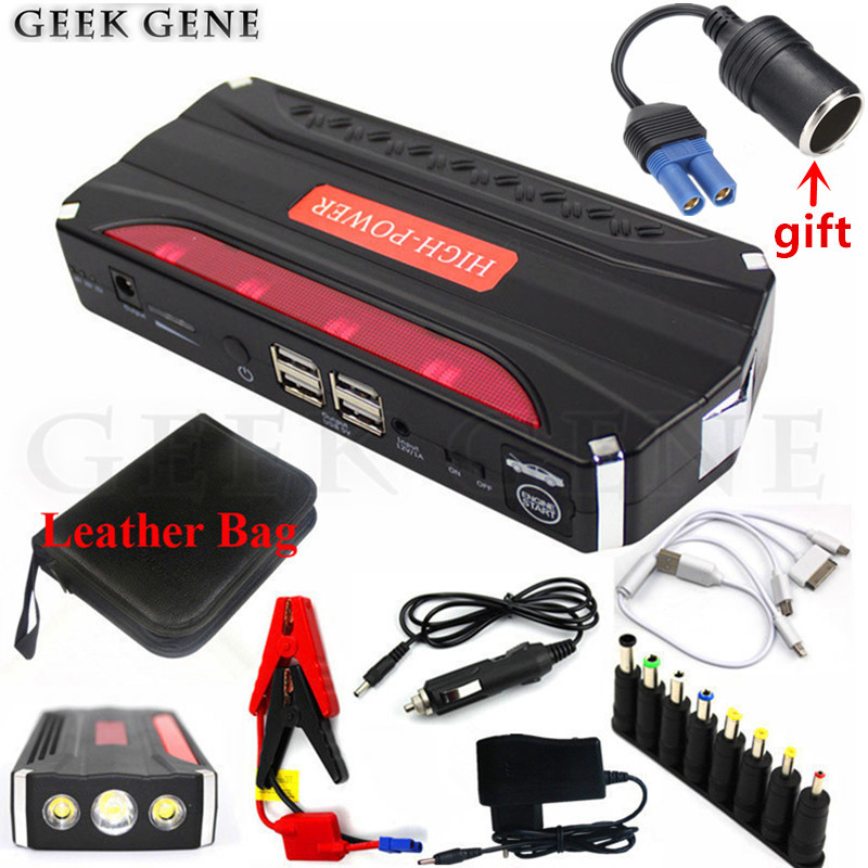 Multi-Function 600A Car Jump Starter Power Bank Portable 12V Car Starter Mini Car Battery Booster Charger Auto Starting Device 2017 high capacity car jump starter portable car battery charger starting booster 12v auto best quality power bank 14000mah