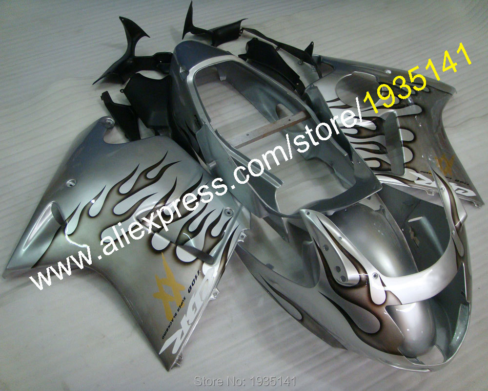 Hot Sales,black silver kit For Honda CBR1100XX 96-07 CBR 1100 XX 1996-2007 sportbike motorcycle Fairing set (Injection molding) hot sales cbr 1100 xx 96 07 body kit for honda cbr1100xx 1100 blackbird 1996 2007 blue motorcycle fairings injection molding