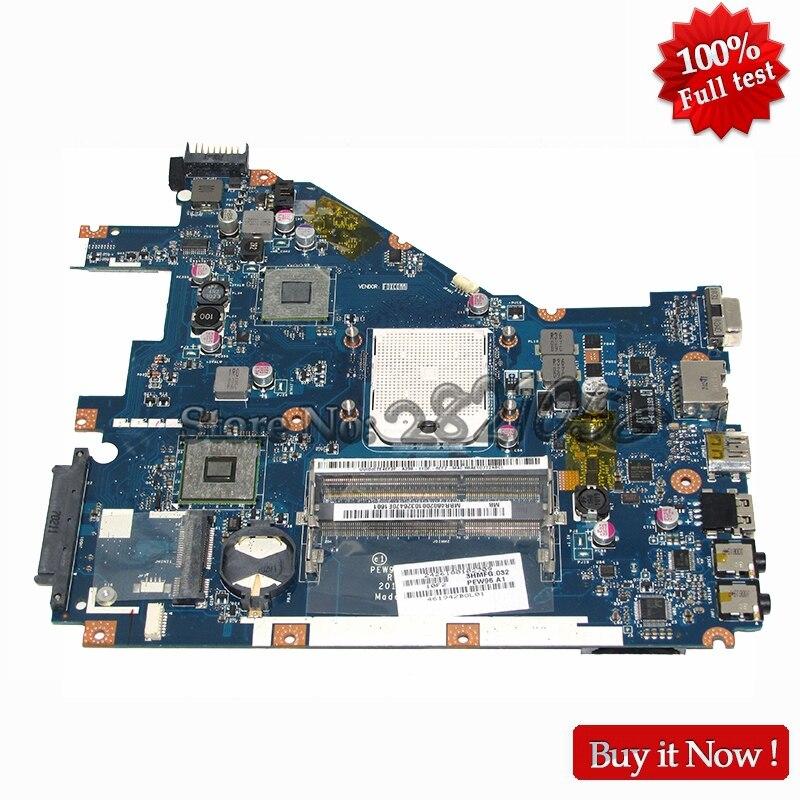 NOKOTION For Acer aspire 5552 5552G Laptop Motherboard LA 6552P MBR4602001 MB.R4602.001 DDR3 Socket S1 with Free CPU