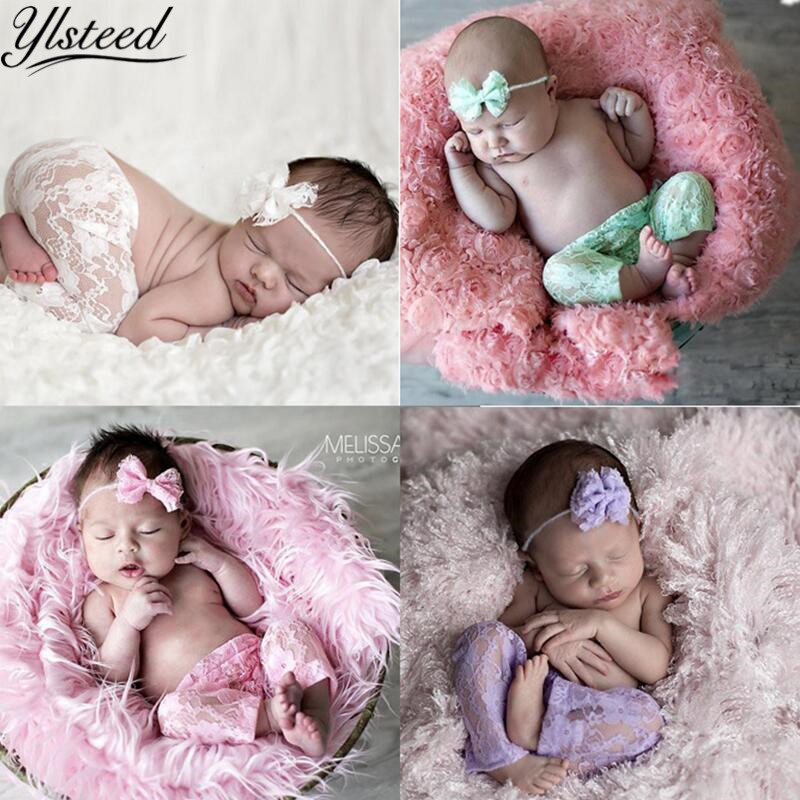 Newborn Baby Girl Lace Floral Romper Jumpsuit Hat Prop Photo Photography Costume