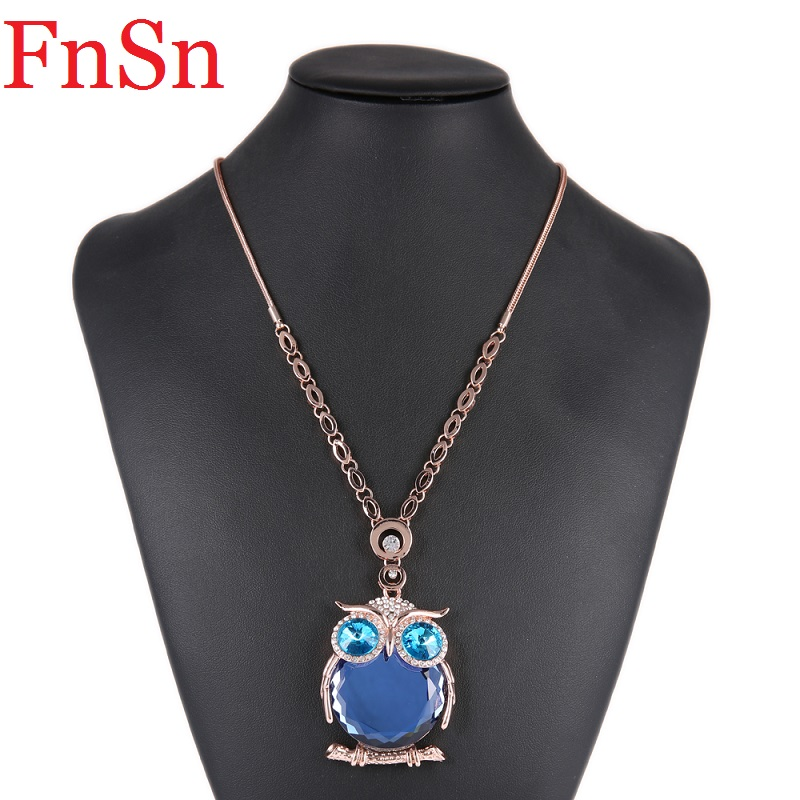 Owl Necklaces&Pendants Women Trendy Crystal Charms Chokers Collar - Fashion Jewelry - Photo 2