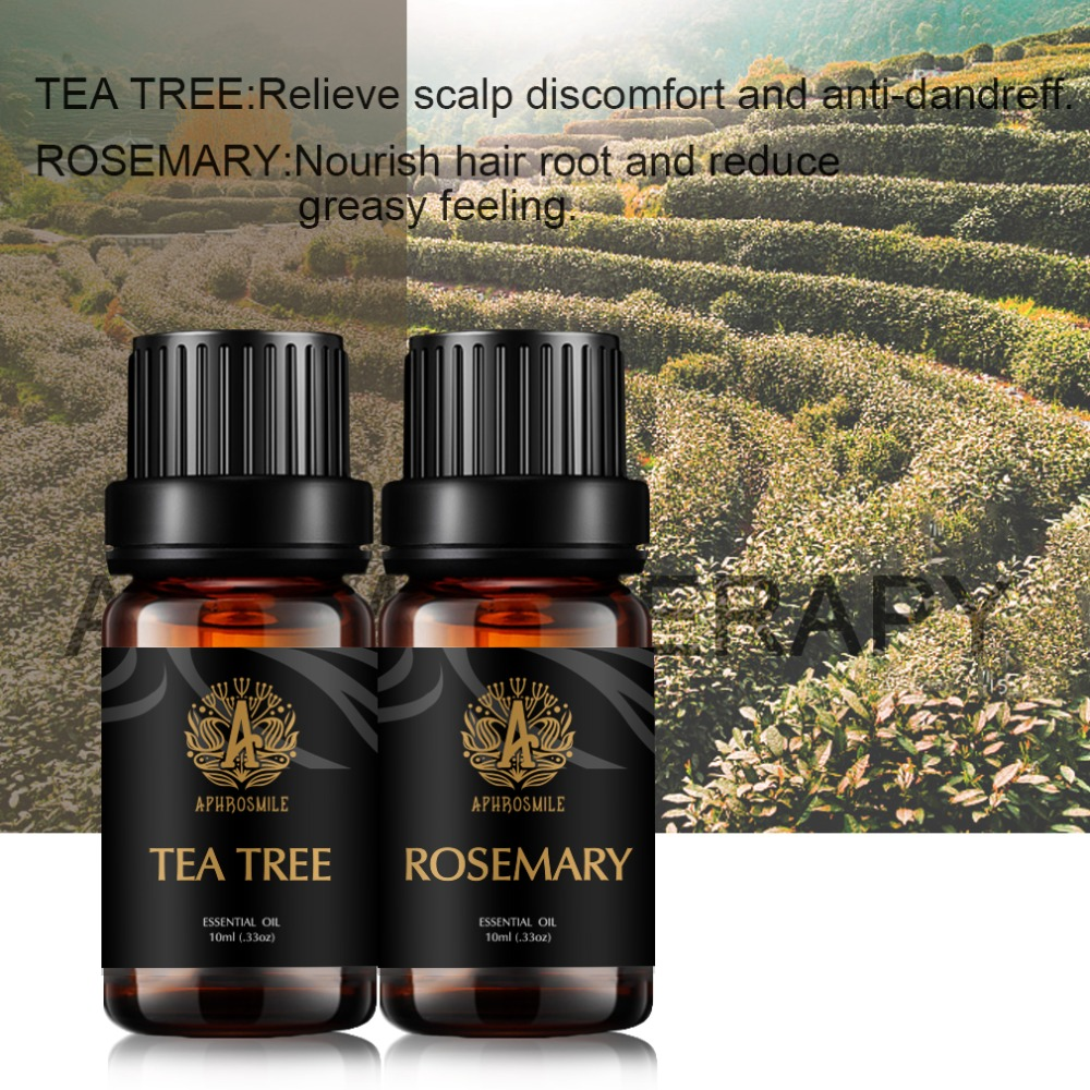Widely Pop Pure Plant Grade Essential Oil  Tea Tree Rosemary Liquid Aromatherapy Essential Oils for Humidifier Body Relaxing Oil