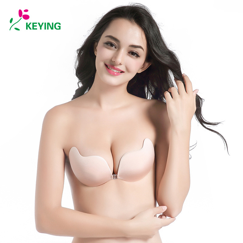 649193838b Detail Feedback Questions about KEYING Fly Bra Strapless Silicone Push Up  Invisible Bra Self Adhesive Backless Bralette Plus Size Seamless Bras Women  ...