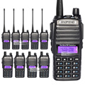 10 pcs/lot two way radio BAOFENG New UV-82 VHF UHF 137-174 400-520MHz Dual Band Radio Walkie Talkie