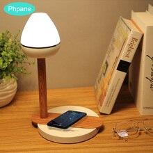 QI drewniana Draadoos lampa