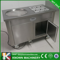 Free delivery!! Thailand Single Pan Fried Ice Cream Machine/ Snack Machine Ice Cream Cold Plate/ Fried Ice Cream Maker
