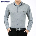 Port&Lotus Polos Men Shirt Men Letters & Leafs Brand Clothing Thick Polo Brand Long Sleeve Collar Cheap Polo Shirt JSL 010 2207