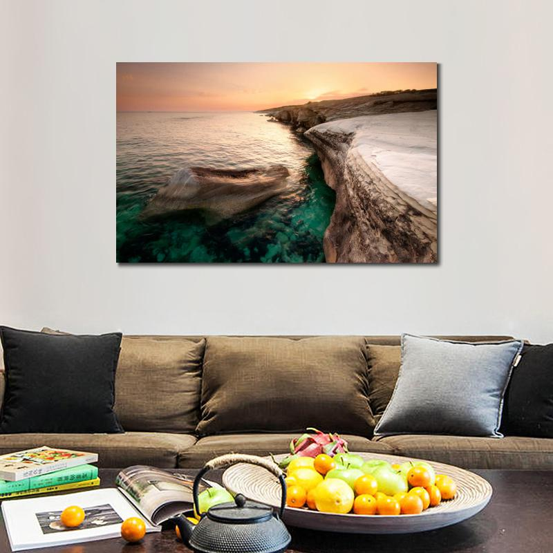 Wall decoration prints canvas piantings Seascapes alamanos beach