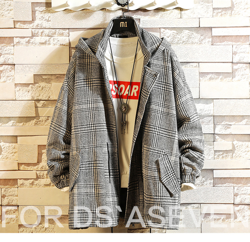 Male Long Coat Oversize Lapel Button Sobretodos Hombre Overcoat Streetwear (39)