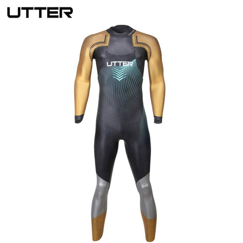 TOTALE Elitepro Hommes Or de SCS Triathlon Costume Yamamoto Néoprène Maillot de Bain À Manches Longues Combinaison Maillots De Bain pour Hommes Maillots De Bain