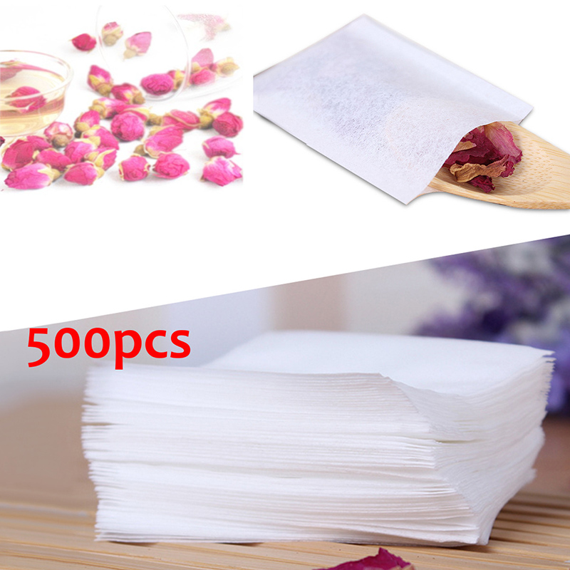 500Pcs/Lot Wooden Color Empty Tea Bags 55X62mm Popular Healthy String Tea Infuser Heat Seal Filter Paper Herb Loose Tea Bags