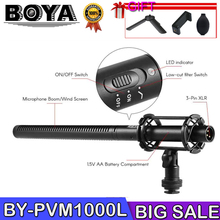 BOYA BY-PVM1000L Microphone PVM1000L Professional Condenser Mic Video Recording for Canon Nikon Sony DSLR Camera Camcorder boya by mm1 compact on camera video microphone youtube vlogging recording mic for iphone nikon canon dslr smooth q feiyu gimbal