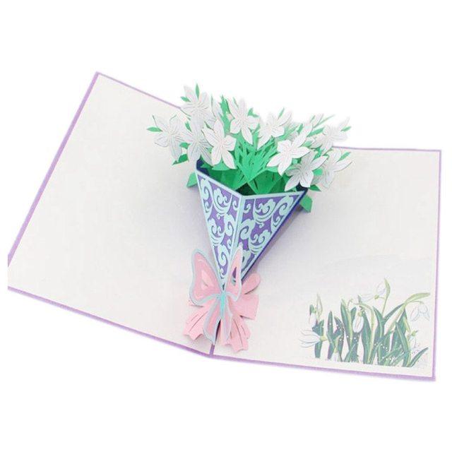 3D Pop Up Karten Valentinstag Geburtstag Anniversary Gift Grußkarten  Postkarte (# E)