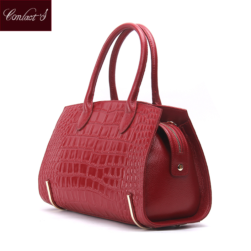 Famous Brand New Women Bag With Genuine Leather wedding Tote Bag Red Black Leather Shoulder Handbag High Quality Crossbody Bags