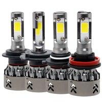 H4 H7 9006 H8 H9 H11 1 Pair LED Car Lights Aluminum IP68 Car Modification Cool