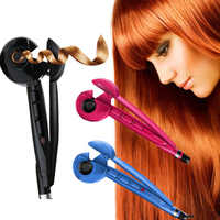Automatic Hair Steam Curler Ceramic Curling Iron Bar Salon Professional Car Rotating Styling Steamer Spray Curl Spiral Machine