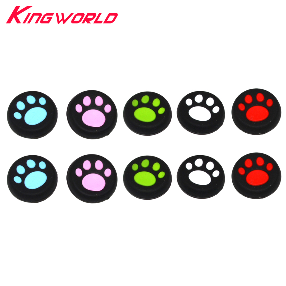 10pcs Rubber Silicone Cap Thumbstick Analog Cover Case Skin Joystick Grip Thumb Stick for PS3 PS4 Xbox One Xbox 360 Controller