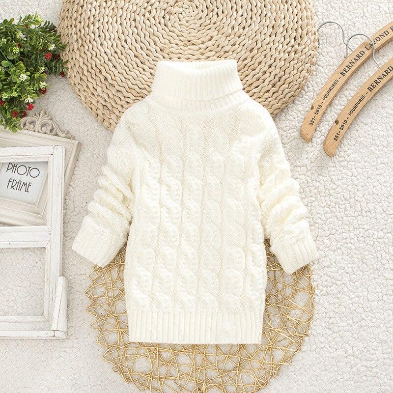 Boys Girls Turtleneck with Beard Label Solid Baby Kids Sweaters Soft Warm Sueter Infantil Autumn Winter Children's Sweater Coats