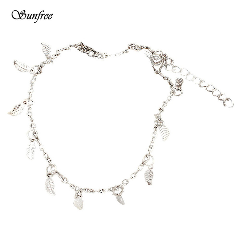 Sunfree 2016 Hot Sale Fashion Sexy Feather Leaves Tassel Anklets Foot Ornaments Fashion Simple Anklet Oct 26